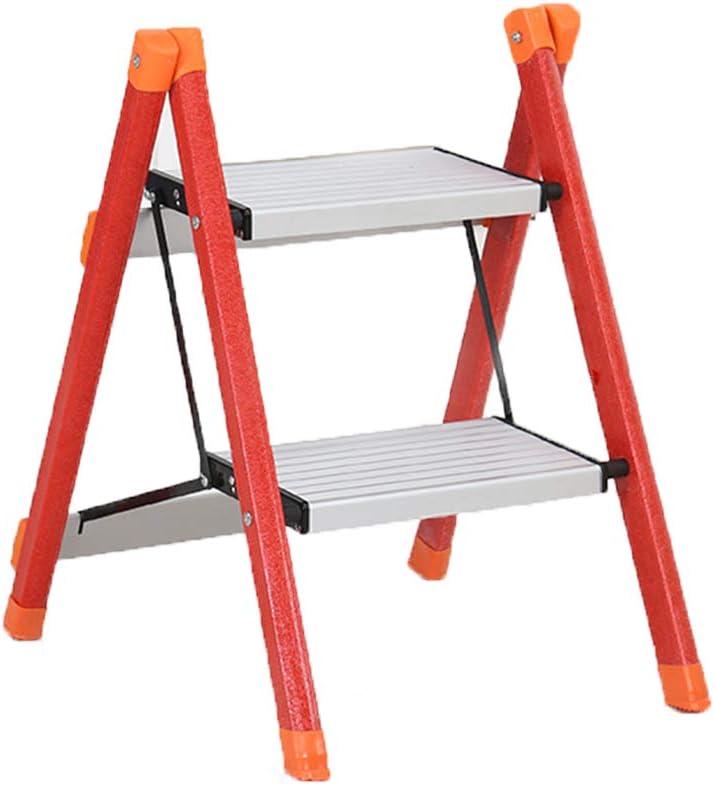 SSCYHT Escalera 2 peldaños Taburete peldaño portátil Escalera Fibra Vidrio Pedal Ancho Antideslizante Multiuso el hogar, el jardín y la Oficina Capacidad Carga 330 LB (150 kg),Rojo: Amazon.es: Deportes y aire libre