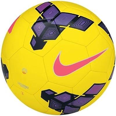 Nike Balón de fútbol Strike HI-Vis, Yellow/Purple/Red, 5, SC2335 ...