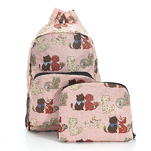 Eco Chic - Bolso mochila  para mujer rosa rosa Hand luggage