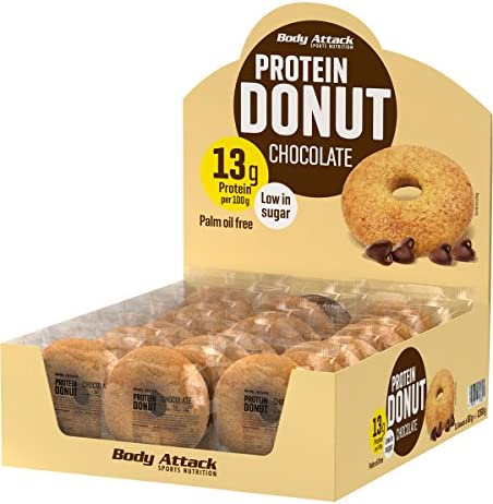 Body Attack Protein Donut, 1er Pack (7x 60g) (Chocolate)