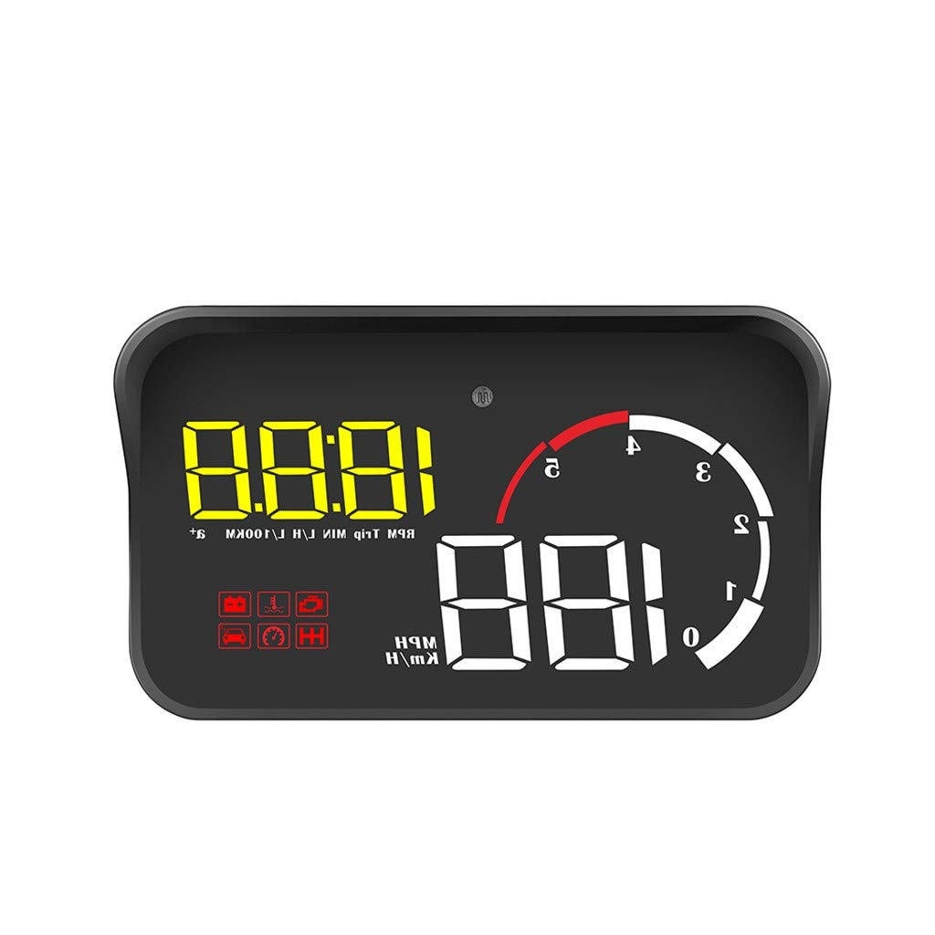 GorNorriss Electronics Gadgets M10 Excelvan 3.5 inch Car HUD Projector Head-Up Display Speeding Warning Fuel