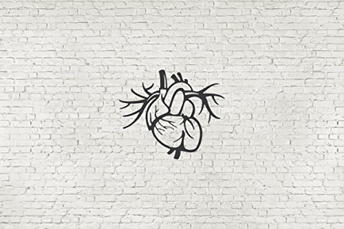 Heart Anatomy Urban Loft Wall Decal Stiker Mural Ad1209