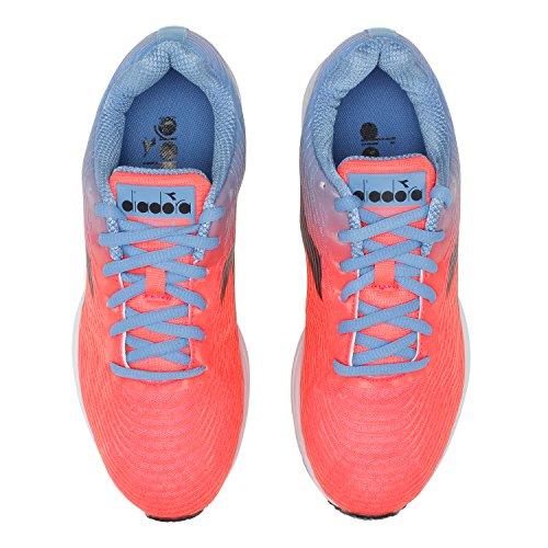 W Blue C7298 3 Mujer iris Action Zapatillas Neon para Diadora Running de Coral qEHP1