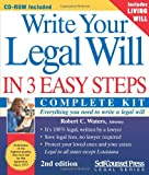 Write Your Legal Will in 3 Easy Steps, Robert Craig Waters, 1551805952