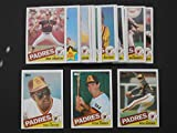 San Diego Padres 1985 Topps Baseball Master Team Set (35 Cards) including year-end Traded Cards** Tony Gwynn, Steve Garvey, Dick Williams, Gary Templeton, Bruce Bochy, Rich Gossage, Nettles,and more