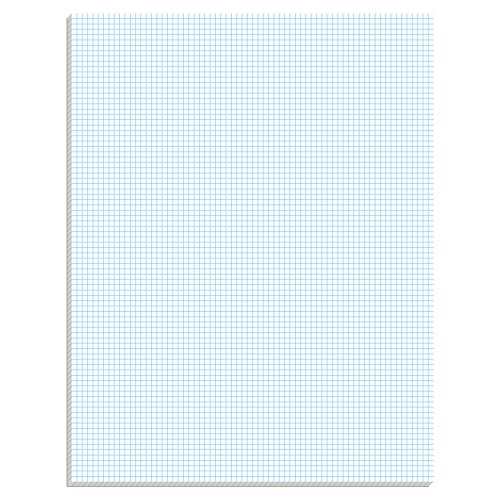 TOPS Quadrille Pad, Gum-Top, 8-1/2 x 11 Inches, Quad Rule , White Paper, 50 Sheets per Pad (33081)