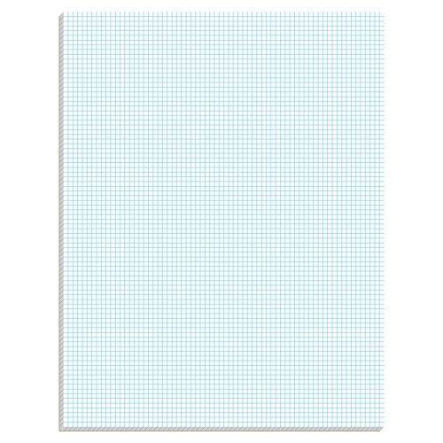 Ampad Quadrille Pad with 8 Squares per Inch, Letter Size, White, 50 Sheets per Pad (Ampad Quadrille Pad)