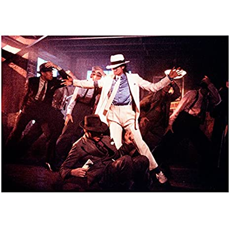 30b43b41b Michael Jackson 8x10 Photo Dancing in White Suit & Hat w/Several Man ...