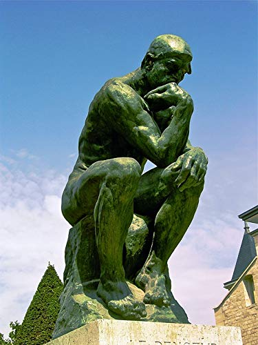 (Home Comforts Peel-n-Stick Poster of 1881-1882 Bronze The Thinker August Rodin Vivid Imagery Poster 24 x 16 Adhesive Sticker Poster Print)