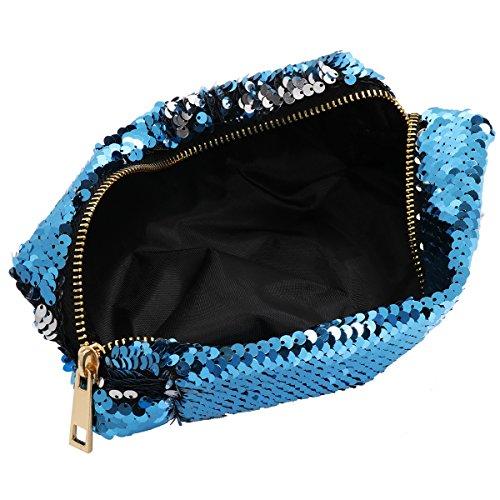 Fille Sac Mini DIY Cadeau Pochette Sac Bleu de de Embrayage Sac Femme Mermaid Main de Mariage Pochette Cosmétique Sac Sac YiZYiF Brillant Etudiante Sac Crayon à Ciel Maquillage dA0qXcw