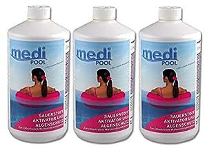 mediPOOL 608601MP Activador de oxígeno, 3x 1l