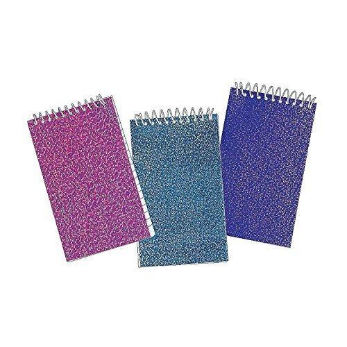Glitter Spiral Notepads (48-Pack) by Fun Express