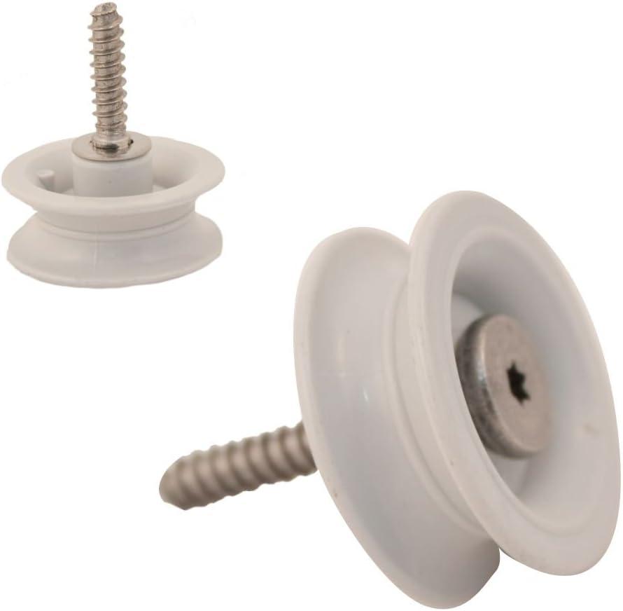 Whirlpool W99002947 Dishwasher Dishrack Track Roller Assembly Genuine Original Equipment Manufacturer (OEM) Part