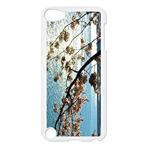 Diy Colorful Cherry Blossom Phone Case for ipod touch 5 White Shell Phone JFLIFE(TM) [Pattern-4] Kimberly Kurzendoerfer