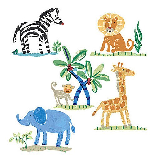 Safari Wallpaper Cut Out (Wallies 12526 Jenny's Safari Wallpaper Cutout)