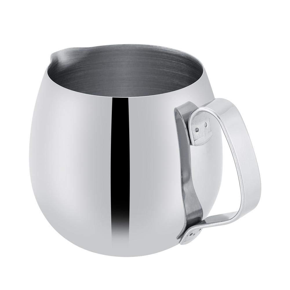 Wifehelper Leche Espuma Lanzador Grueso Mango Antideslizante de Acero Inoxidable Durable Latte Taza de Caf/é Taza Jarra Cocina en el Hogar Uso Diario 300ml