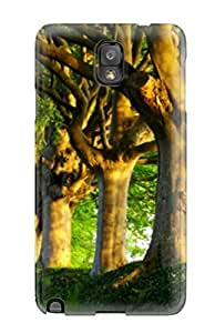 Shock-dirt Proof Attractive Summer Trees Case Cover For Galaxy Note 3