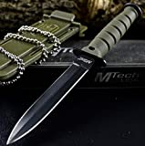 6' TACTICAL COMBAT NECK KNIFE Survival Hunting MILITARY BOWIE DAGGER Fixed Blade