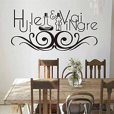 Stickers French Cuisine Huile Et Vinaigre Vinyl Wall Sticker Mural