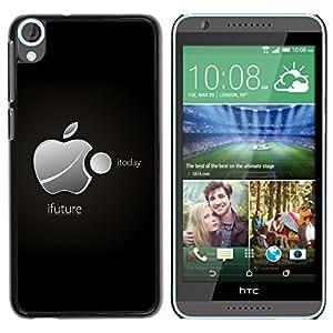 iFuture - Metal de aluminio y de plástico duro Caja del teléfono - Negro - HTC Desire 820