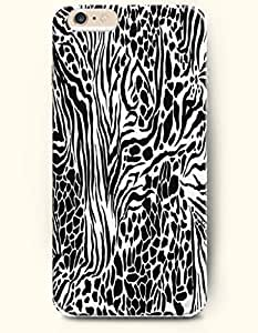 Black And Whtie Leopard Stripe And Zebra Print - Animal Print - Phone Cover for Apple iPhone 6 Plus ( 5.5 inches...