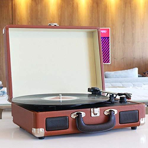 Vitrola Toca Discos de Vinil Bluetooth com Conversor Digital e Alto Falantes Maleta Uitech