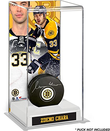 Sports Memorabilia Zdeno Chara Boston Bruins Deluxe Tall Hockey Puck Case - Fanatics Authentic Certified - Hockey Puck Display Cases No Logo ()