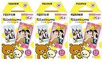 Fujifilm Instax Mini Instant Film 30 Count Value Kit For Fuji 7s, 8, 8+, 25, 50s, 90, 300, Instant Camera, Share SP-1 Printer (3 Pack, Rilakkuma)