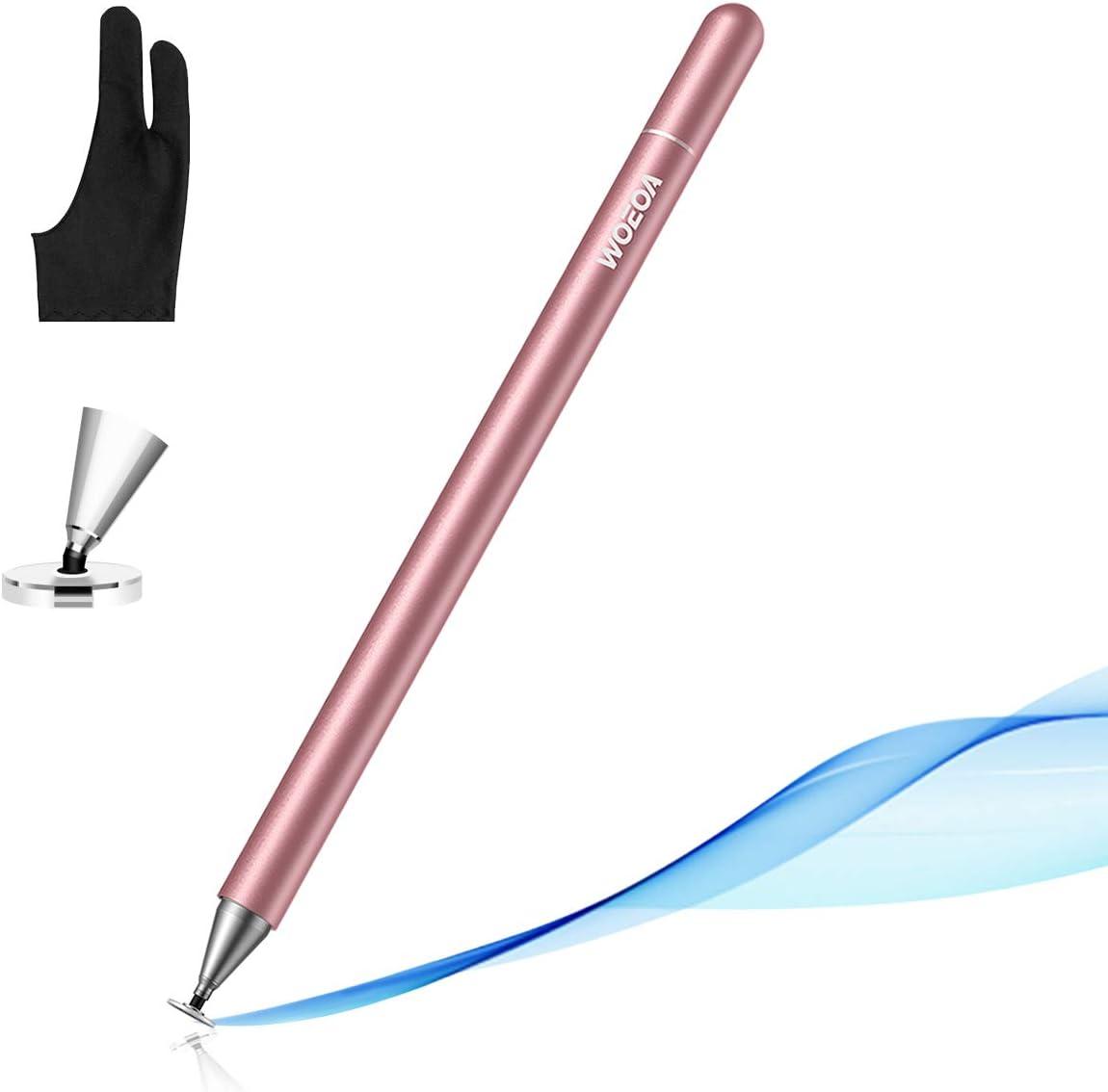 JOYROOM - Lápiz capacitivo para pantallas táctiles de iPhone, iPad Pro/Mini/Air, Android, Microsoft, Surface, Samsung Galaxy, Tablet o dibujo para niños, con guante de artista