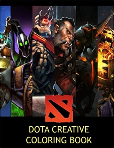Amazon Dota Creative Coloring Book Color Activity Activities Games Steam Video EG NaVi TSM Fnatic Heroes MOBA League Of Legends