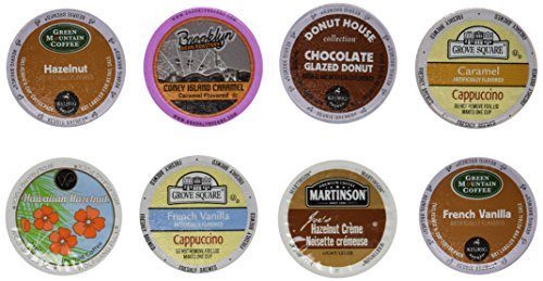 30count  NEW Flavor Coffee Variety Pack for Keurig® 20 Brewers  Featuring Caramel Vanilla Cream French Vanilla Hazelnut French Vanilla Supreme Coconut Mocha Mocha Nut Chocolate Glazed Vanilla Biscotti and Wild Mountain Blueberry
