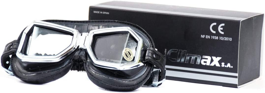 Climax 513 SNP - Gafas de moto, color cromo y negro