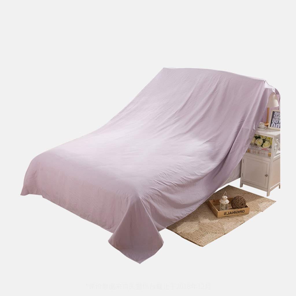 Fhz Solid Color Furniture Dust Cloth, Sofa Dust Cloth Cover Ash Cloth Bed Dust Cover Dust Cloth Large Cloth Cloth Gray Cloth Household (Color : Lavender, Size : 100 * 240cm) hty