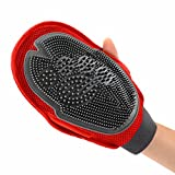 Dimart TPR Cat Dog Grooming Groom Glove Mitt Kitty Puppy Washing Cheaning Brush Comb Pet Massage Shower