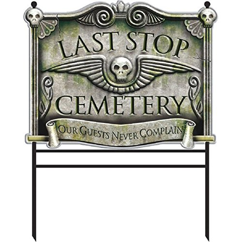 Halloween Cemetery Yard Sign -