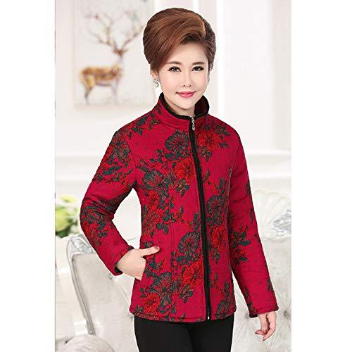 Kindoyo Stampa Outwear Breve Cappotto Collare 6 Donne Colori Del 12 Basamento Giacca Invernale Riscaldamento Stile Giù xqH8qwPrI