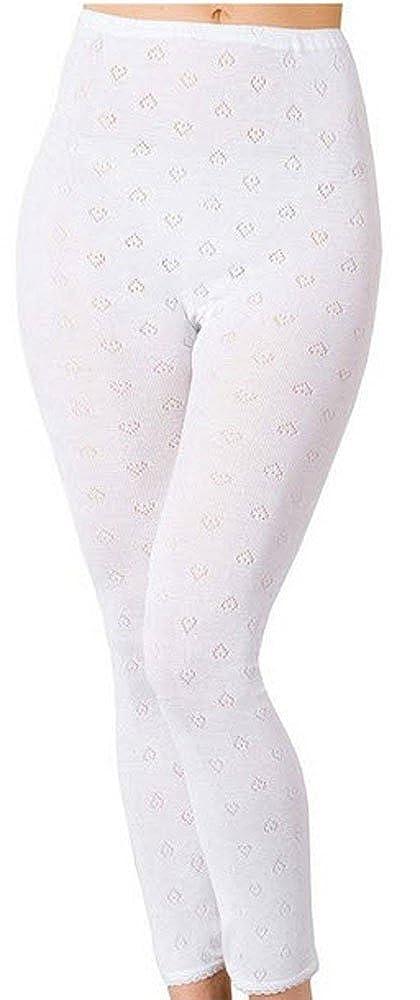 Ladies Thermal Long Johns in White