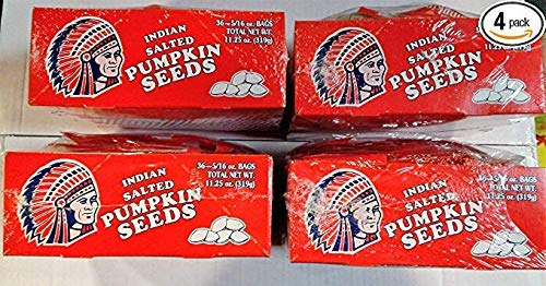 Indian Pumpkin Seeds Salted (4 box deal), 5/16 oz, 36 count (144 bags) From Candy World