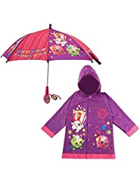 Little Girls Character Slicker and Umbrella Rainwear Set, Age 2-7