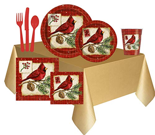 Disposable Christmas Napkins Plastic Utensils Set with Paper Cups   Christmas Paper Plates   Compostable Plates…