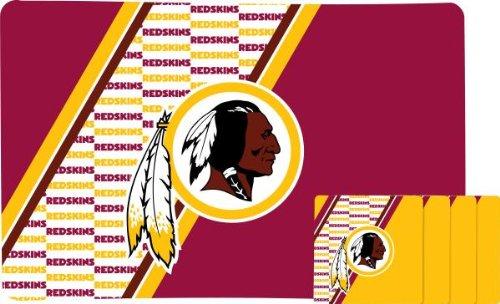 [NFL Washington Redskins Placemat Coaster Set] (Wa Mat)
