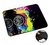 lv car mat - 003791 - Colourful Neon Style Splash Car Design Macbook PC Laptop Anti-slip Mousepad Mouse Mat Tpu Leather-Slim 3MM