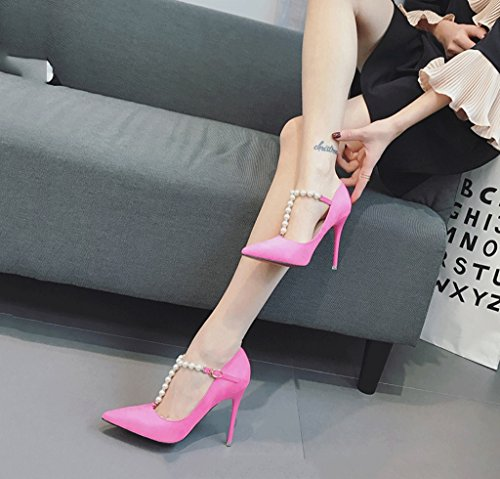 Gorgeous Female Pointed-Toe High Heels Summer Comfortable Sandals Fashion Sexy Shallow Mouth Pink Wedding Shoes Pink EiAfKr