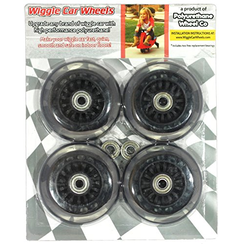 Wiggle Car Polyurethane Replacement Wheels - Black by Polyurethane Wheel Co
