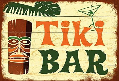generisch Buddel-Bini Versand - Cartel Decorativo (Chapa, 30 x 20 cm), diseño de Tiki Bar Hawaii