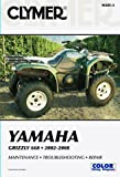 2002-2008 YAMAHA YFM660 GRIZZLY SERVICE MANUAL - YAMAHA GRIZZLY, Manufacturer: CLYMER, Manufacturer Part Number: M285-2-AD, Stock Photo - Actual parts may vary.