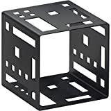 Cal-Mil 1607-5-13 5'' Black Steel Squared Cube Riser