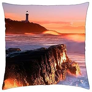 Magical Lighthouse Seacoast Scape–Funda de almohada manta (18
