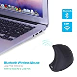 Mchoice MODAO Ergonomic BLUETOOTH Vertical Mouse with 3 Adjustable DPI (Black)