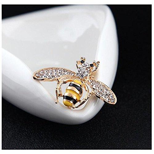 Cristaux D'abeilles Broches Collier Animaux Broche Corsage Pour Les Femmes Et Les Hommes 12 #